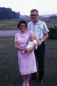 Marion & Me with Our First-born - in 1966